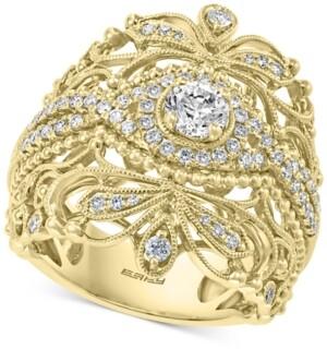 Effy Diamond Openwork Statement Ring (7/8 ct. t.w.) in 14k Gold