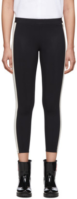 Moncler Black and White Side Stripe Leggings