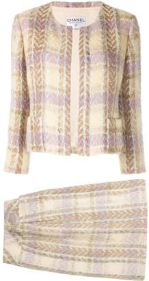 Chanel Pre Owned Tweed setup jacket skirt