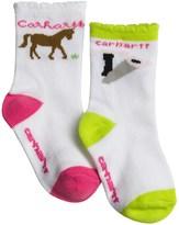 Carhartt Horse Socks - 2-Pack, Crew (For Infant and Toddler Girls)