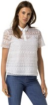 Tommy Hilfiger Embroidered Lace Polo