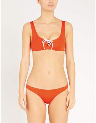 LES GIRLS LES BOYS Lace-up bikini top