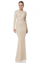 Terani Evening - Glittering Crystal Encrusted Jewel Neck Column Gown 1612E0277A
