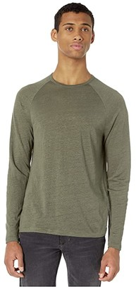 Vince Long Sleeve Crew Neck Tee (Deep Olive) Men's Clothing