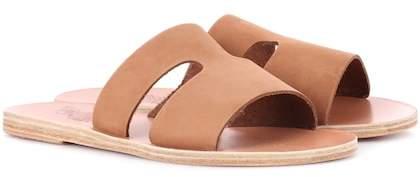 Ancient Greek Sandals Apteros nubuck leather sandals