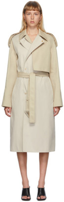 Bottega Veneta Beige Deconstructed Twill Coat