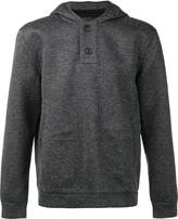ATM Anthony Thomas Melillo buttoned fastening hoodie - men - Silk/Modal/Viscose - S