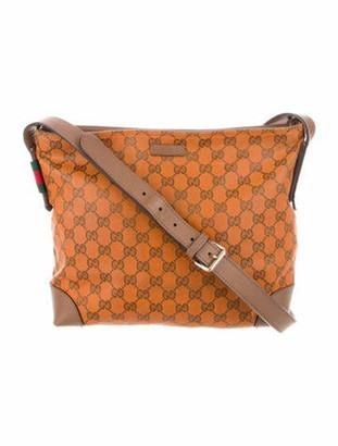 Gucci GG Canvas Messenger Bag Orange