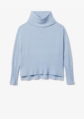 Derek Lam 10 Crosby Twilight Wool Cashmere Bond Turtleneck Sweater