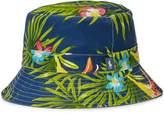 Polo Ralph Lauren Mens Woven Floral Print Bucket Hat Navy S/M