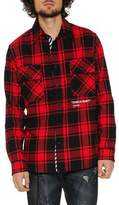 Off-White Men's Air Quote Typographic Check Shirt