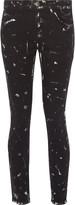 Current/Elliott The Stiletto paint-splattered mid-rise skinny jeans