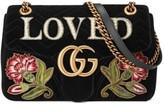 Gucci Gg Marmont Loved Velvet Shoulder Bag - None