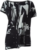 Ann Demeulemeester abstract print T-shirt - women - Cotton - 36