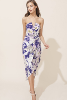 Yumi Kim Glamour Night Silk Midi Dress