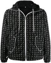 MCM all-over logo hooded jacket