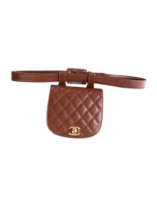 Chanel Vintage Caviar CC Waist Belt gold