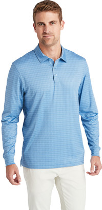 Vineyard Vines Printed Sankaty Performance Long-Sleeve Polo