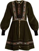 TALITHA Athena tribal-embroidered cotton dress