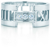 Tiffany & Co. Atlas open ring in 18k white gold with diamonds