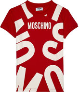 Moschino Blown up logo stretch-cotton T-shirt dress 4-14 years