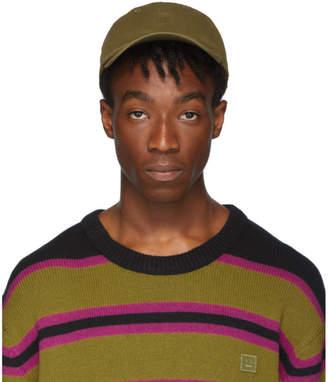 Acne Studios Green Cunov Face Cap