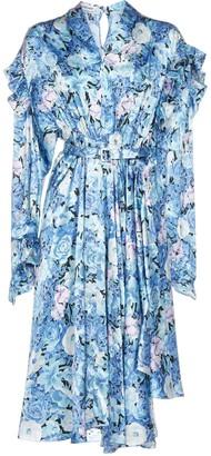 Balenciaga Floral Print Ruffled Dress