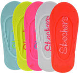 Skechers Girls' S106781 5-Pack Non Terry Superlow Cut Socks