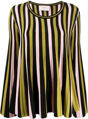 La DoubleJ Striped Knitted Jumper