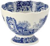 Spode Dinnerware, Blue Italian Footed Bowl