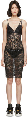 Versace Underwear Black Lace Night Dress