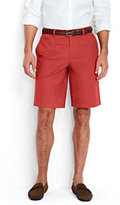 "Lands' End Men's Classic Fit 11"" Lightweight Casual Chino Shorts-White"