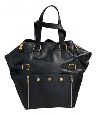 Saint Laurent Downtown Navy Patent leather Handbags