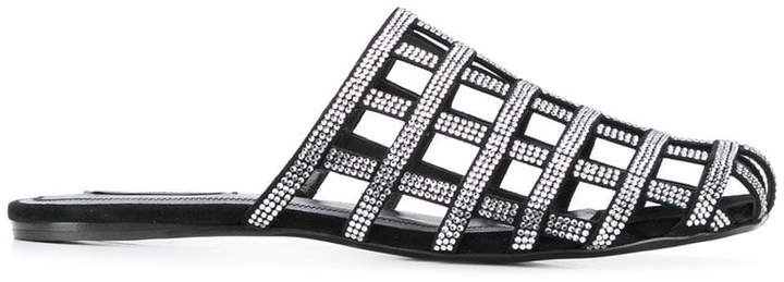 Alexander Wang crystal embellished slippers