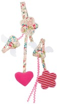 Trousselier Red Flowers Angel Bunny Pacifier Clip Rattle