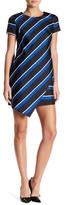 Cynthia Steffe Abbey Stripe Asymmetrical Hem Shift Dress