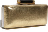 'Tonda' Metallic Leather Clutch