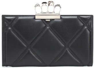 Alexander McQueen Four-Ring quilted leather clutch
