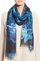 Badgley Mischka Women's 'Sheer Rose' Floral Print Modal & Silk Scarf