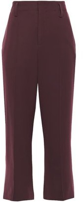 Vince Cropped Stretch-cady Straight-leg Pants