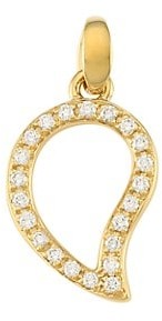 Tamara Comolli Signature Wave 18K Yellow Gold & Diamond Pave Small Pendant