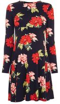 Topshop Maternity red rose dress