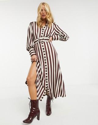 Y.A.S shirt dress in stripe