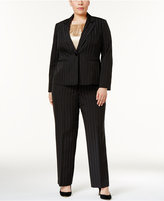 Le Suit Plus Size 3-Pc. Pinstriped Pantsuit