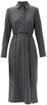 Altuzarra Edith Wool-blend Shirt Dress - Grey