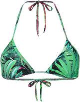 Ermanno Scervino palm bikini top - women - Polyamide/Spandex/Elastane - S