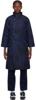 Blue Blue Japan Black and Navy Kagozome Long Coat