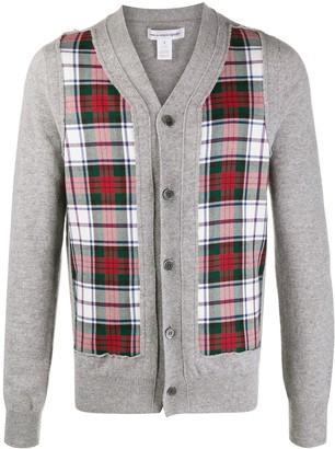 Comme des Garçons Shirt Plaid-Panelled Cardigan