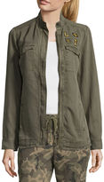 Libby Edelman Tencel Army Jacket