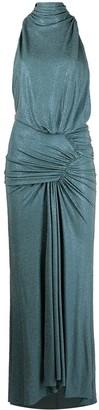 Alexandre Vauthier Crystal-Embellished Halterneck Dress